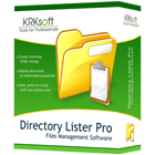 Directory Lister Pro lets you save, print, and email lists of files from selected folders on hard disks and other storage devices, in HTML, TXT, or CSV formats.