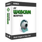AV WebCam Morpher lets you alter and control webcam output in REAL TIME, letting you change your image, alter your voice, switch up background images, and more.