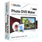 4Media Photo DVD Maker lets you convert your photo library into DVD movies complete with audio, transitions, and special effects, playable on any DVD player.