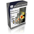 Reshade Image Enlarger provides accurate, high quality, and realistic enlargements at any zoom factor. Enlarge up to 2000% without appreciable quality loss!