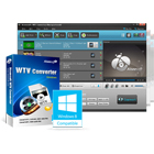 Aiseesoft WTV Converter lets you convert Windows Media Center WTV files to a variety of popular video formats for playback on other platforms.