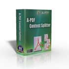 A-PDF Content Splitter lets you split PDF documents into smaller files based on content, such as location and text information within each file.