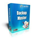A-PDF Backup Master lets you automatically back up critical data to any USB device, local drive, or network location.