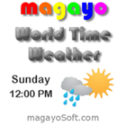 magayo World Time Weather lets you display the current local time and weather of multiple global cities on your computer desktop.