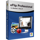 eFlip Professional lets you build interactive Flash and HTML5 publications that are ready for deployment on the web, or as HTML, EXE, or ZIP archives.