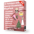 3D Holidays and Special Occasions MegaPack (Mac & PC) Discount Download Coupon Code