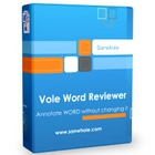 Vole Word Reviewer Profession Edition lets you add text and media notes to any Microsoft Office Word document without changing the file.