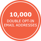 10,000 Double Opt-in Email Addresses