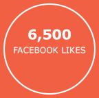 6,500  facebook likes