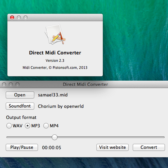 how to change into wav format mac