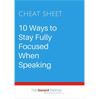 10 Ways to Stay Fully Focused When SpeakingDiscount