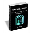 Time Checklist - Make the Most of Your Time with One Simple Tool (Mac & PC) Discount
