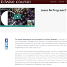 Learn To Program C (Mac & PC) Discount Download Coupon Code