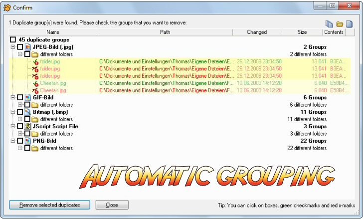 Email Tools Software, 1-Click Duplicate Bundle Screenshot