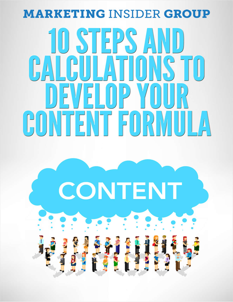10 Steps and Calculations to Develop your Content Formula Screenshot