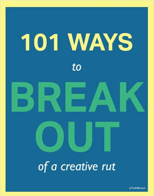101 Ways to Break Out of a Creative Rut Screenshot