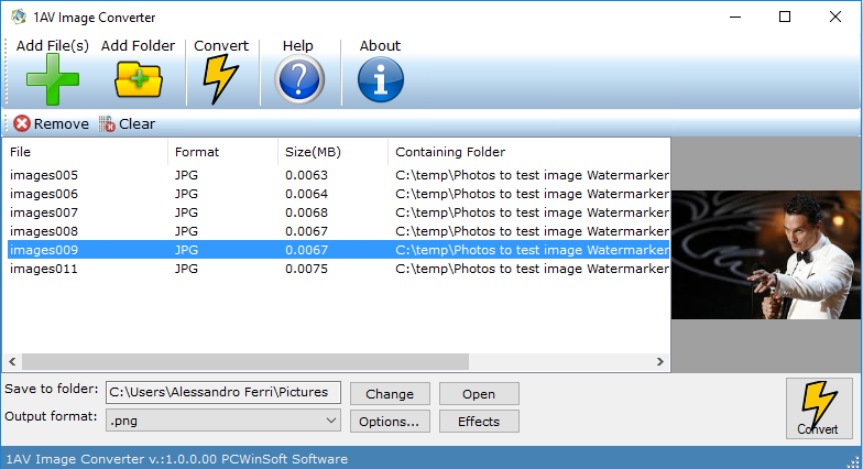 1AV Image Converter Screenshot
