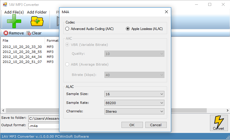 1AV MP3 Converter, Audio Conversion Software Screenshot