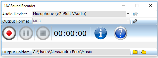1AV Sound Recorder Screenshot