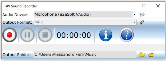 1AV Sound Recorder Screenshot