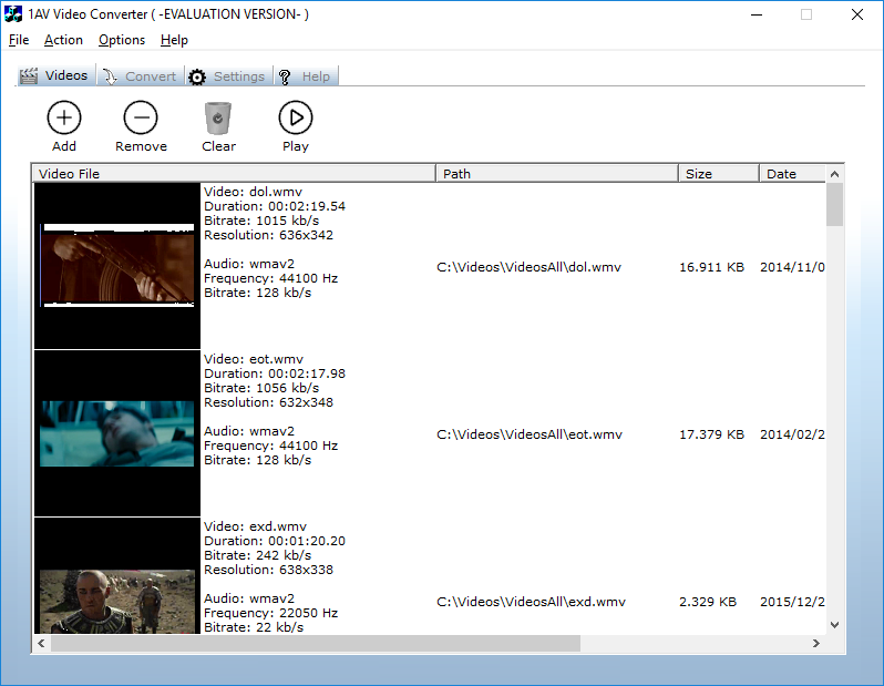1AV Video Converter Screenshot