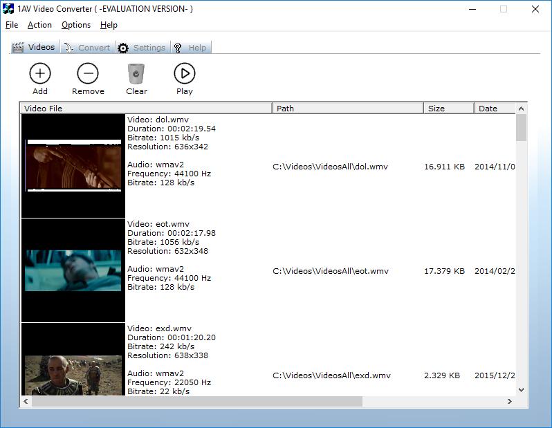 1AV Video Converter Screenshot