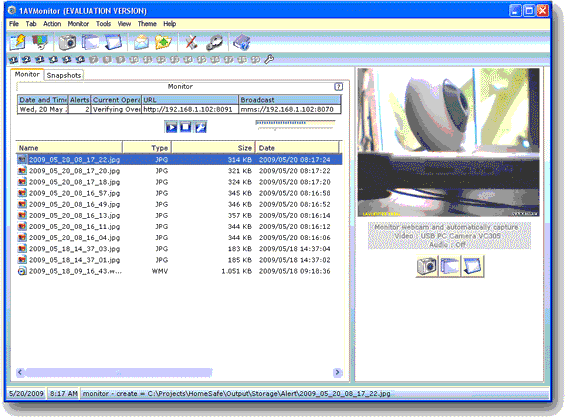 1AVMonitor Screenshot