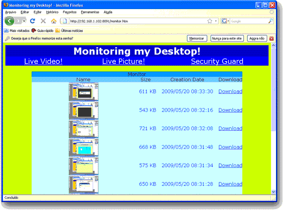 1AVMonitor, Security Software Screenshot