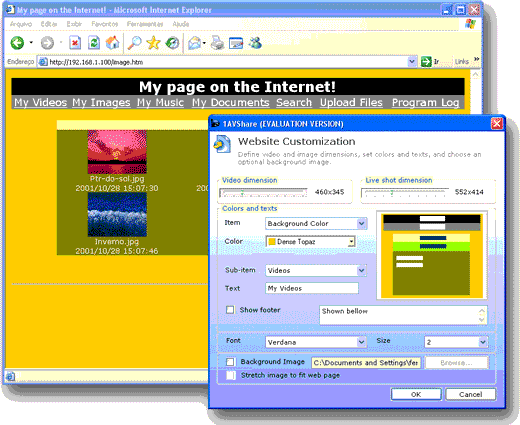 File Sharing Software Screenshot