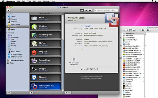 1Password for Mac and Windows, Security Software Screenshot