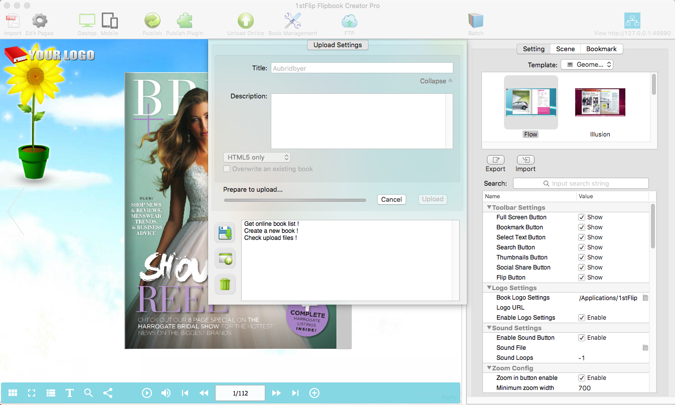 1stFlip Flipbook Creator, Business & Finance Software Screenshot