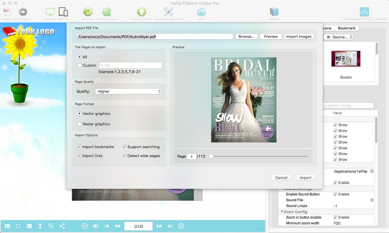 1stFlip Flipbook Creator, PDF Conversion Software Screenshot