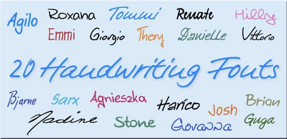 20 款手写字体丨反斗限免