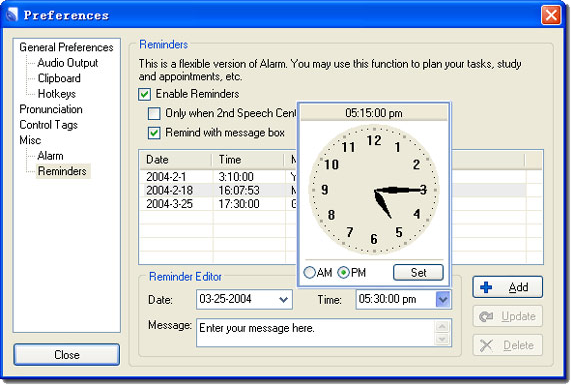 Audio Software, Text to Speech Software Screenshot
