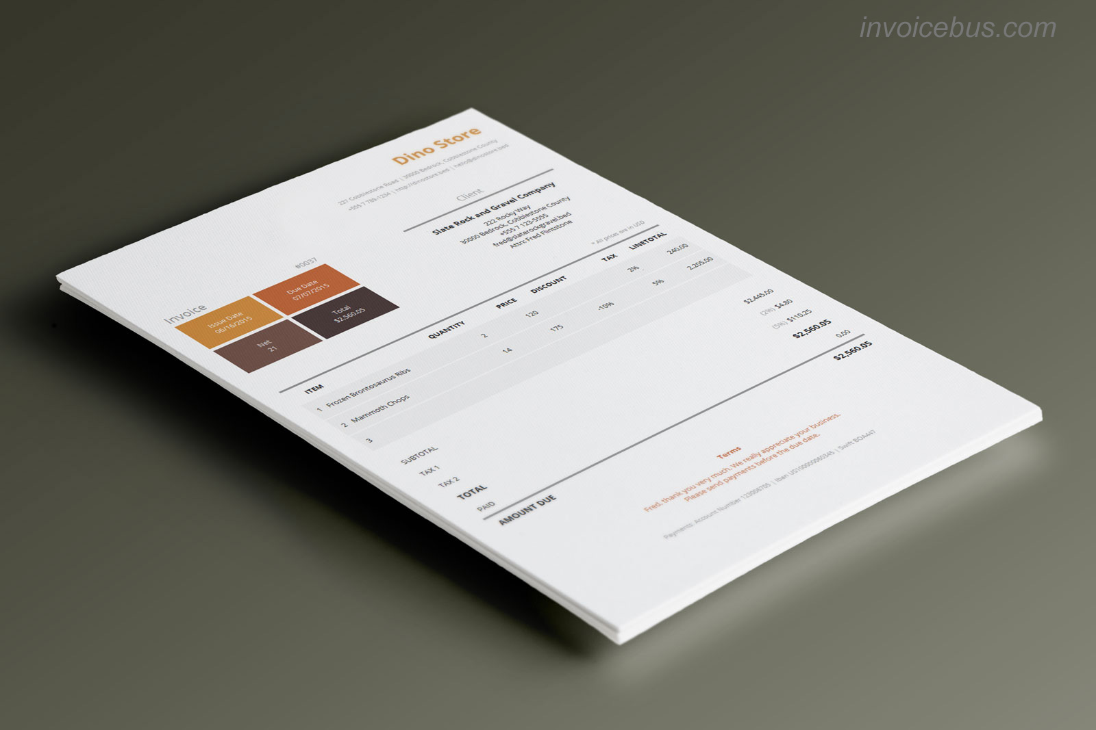 40  interactive invoice templates - accounting software