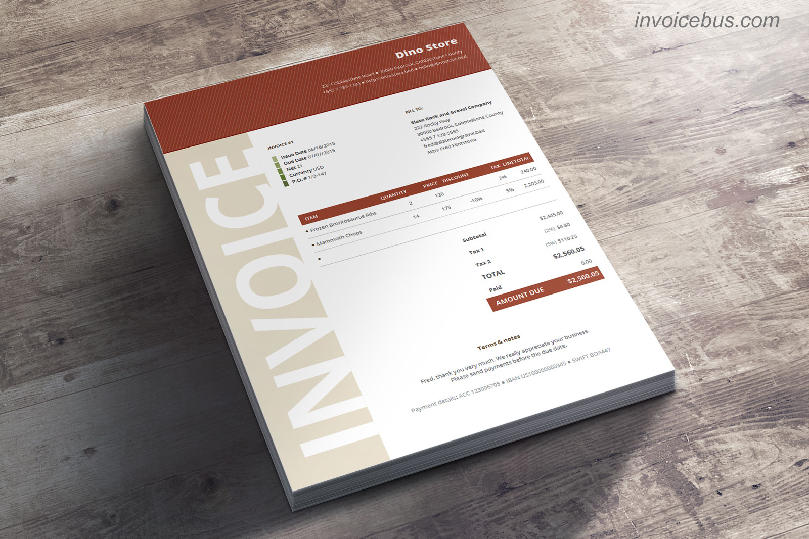 40+ Interactive Invoice Templates Screenshot 8