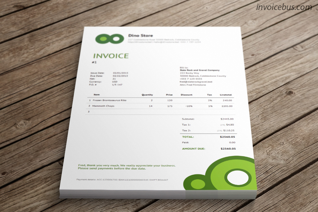 40+ Interactive Invoice Templates Screenshot 12