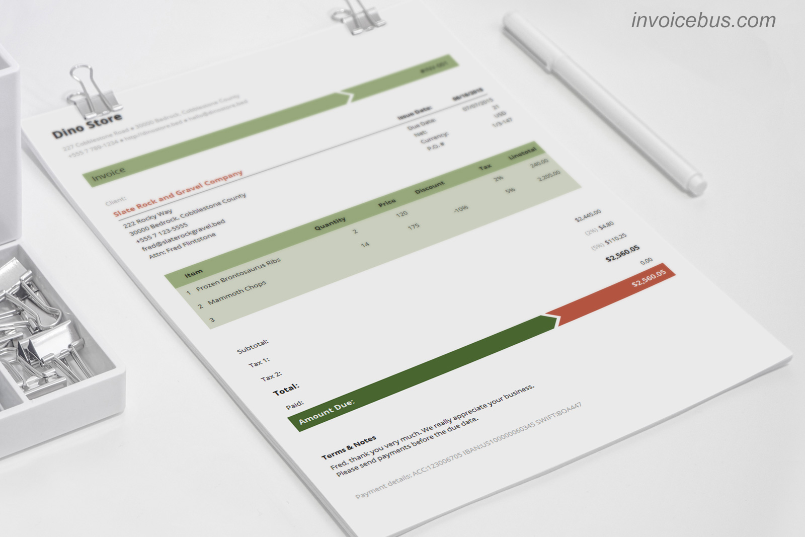 Interactive Invoice Templates Accounting Software - Seo invoice template