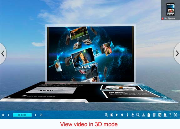 Hobby, Educational & Fun Software, 3D PageFlip Professional Screenshot