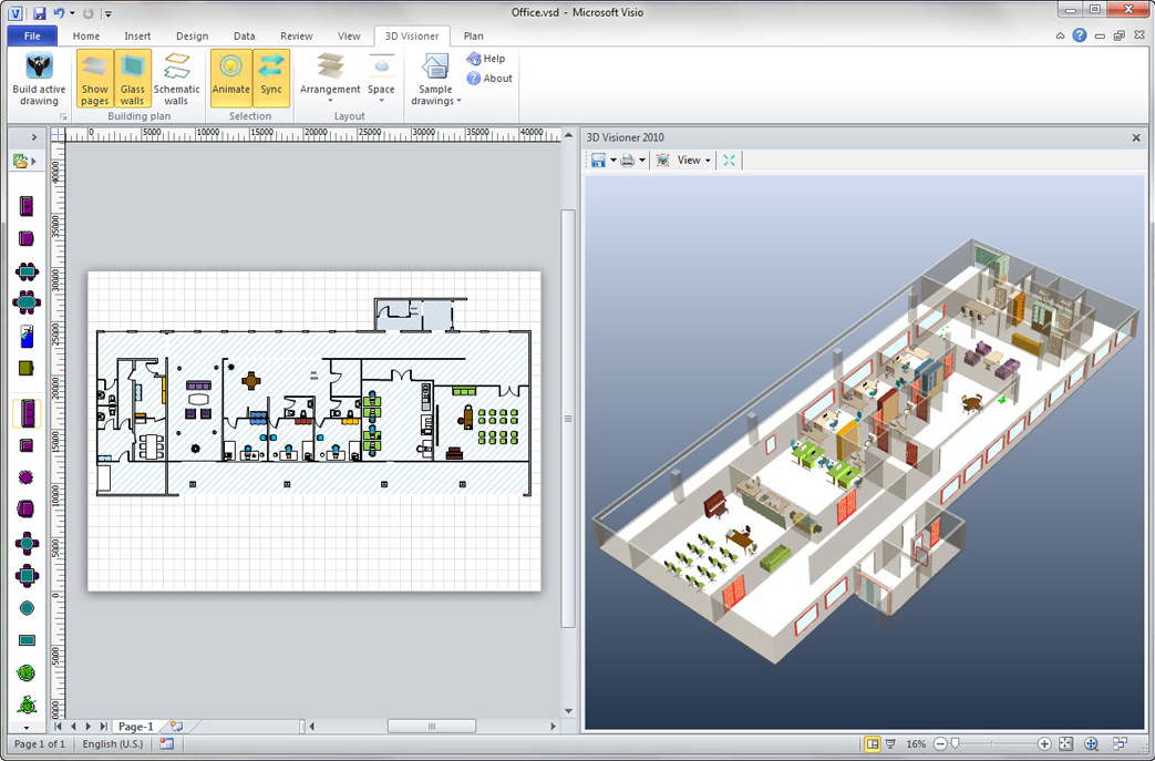 3D Visioner 2010 Enterprise Edition (64 bit) Screenshot