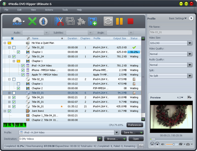 4Media DVD Ripper Ultimate Screenshot