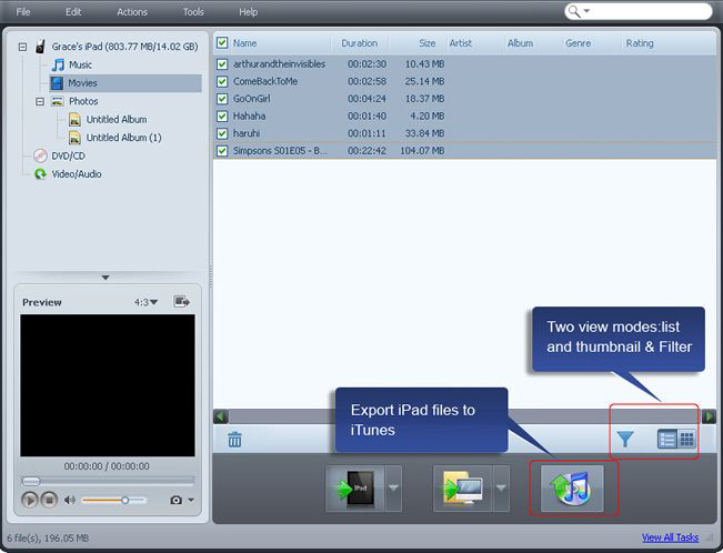 4Media iPad Max Platinum, Video Converter Software Screenshot