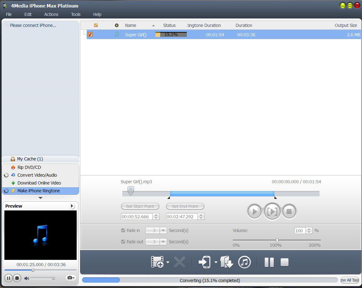 4Media iPhone Max Platinum for Mac & Win, Video Converter Software Screenshot