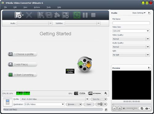 4Media Video Converter Ultimate, Video Software Screenshot