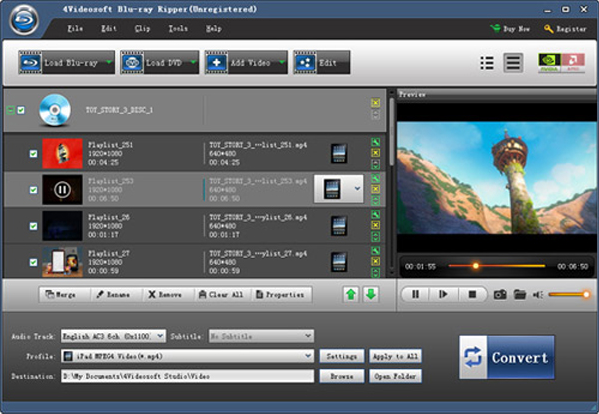 4Videosoft Blu-ray Converter 7 Screenshot