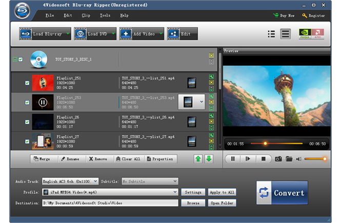 4Videosoft Blu-ray Ripper Screenshot
