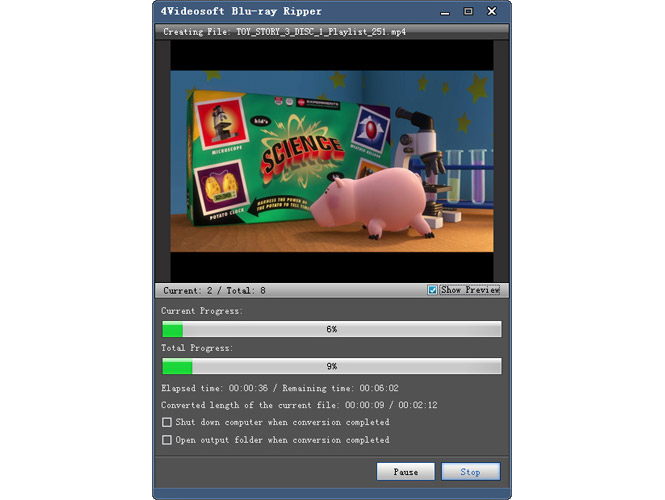 Video Software, 4Videosoft Blu-ray Ripper Screenshot