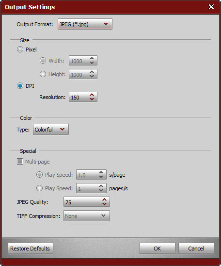 4Videosoft PDF to Image Converter Screenshot