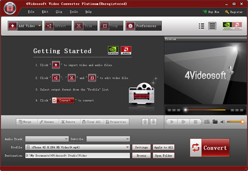 4Videosoft Video Converter Platinum Screenshot