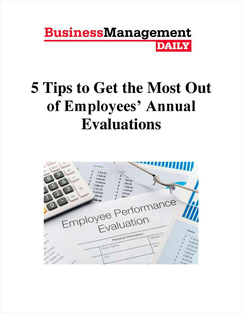 5 Tips to Get the Most Out of Employees' Annual Evaluations Screenshot